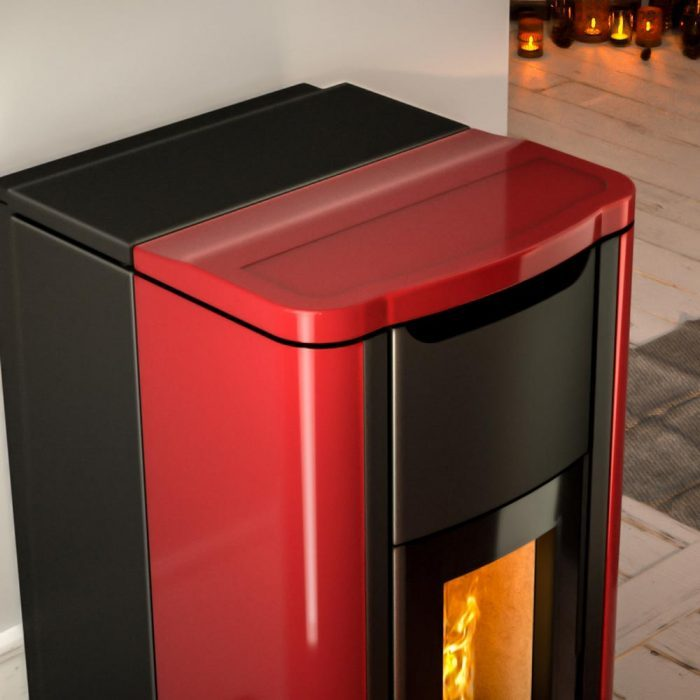 termostufa a pellet nobis mod. h20 shape particolare