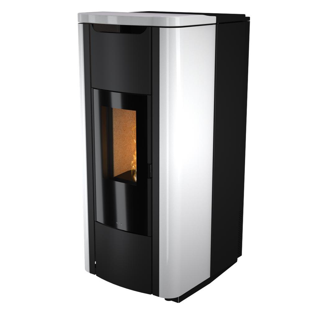 termostufa a pellet nobis mod. h20 shape bianco
