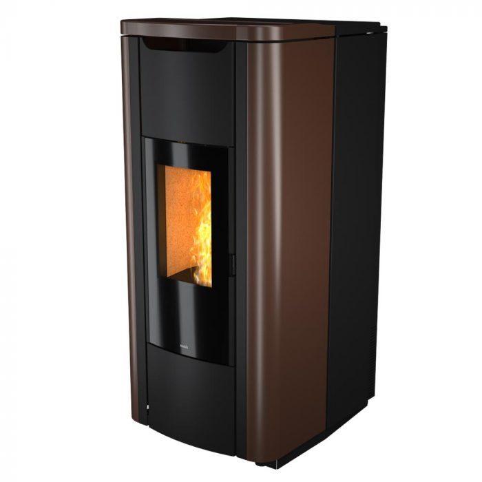 termostufa a pellet nobis mod. h20 shape bronzo