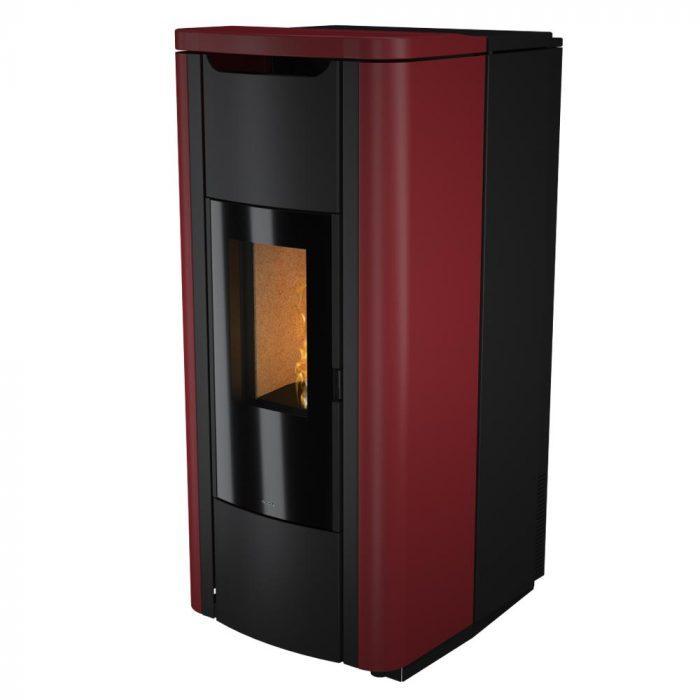 termostufa a pellet nobis mod. h20 shape rosso
