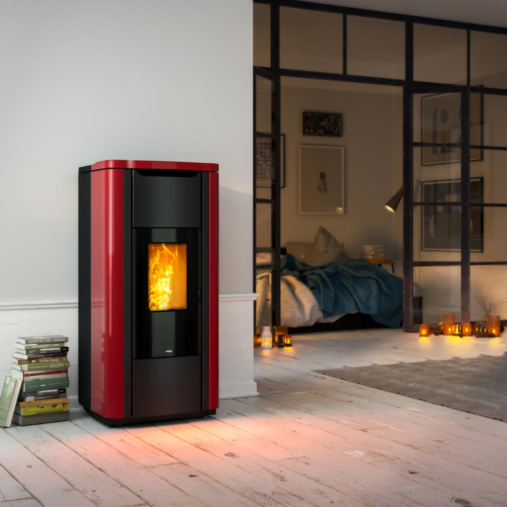 termostufa a pellet nobis mod. h20 shape - 2